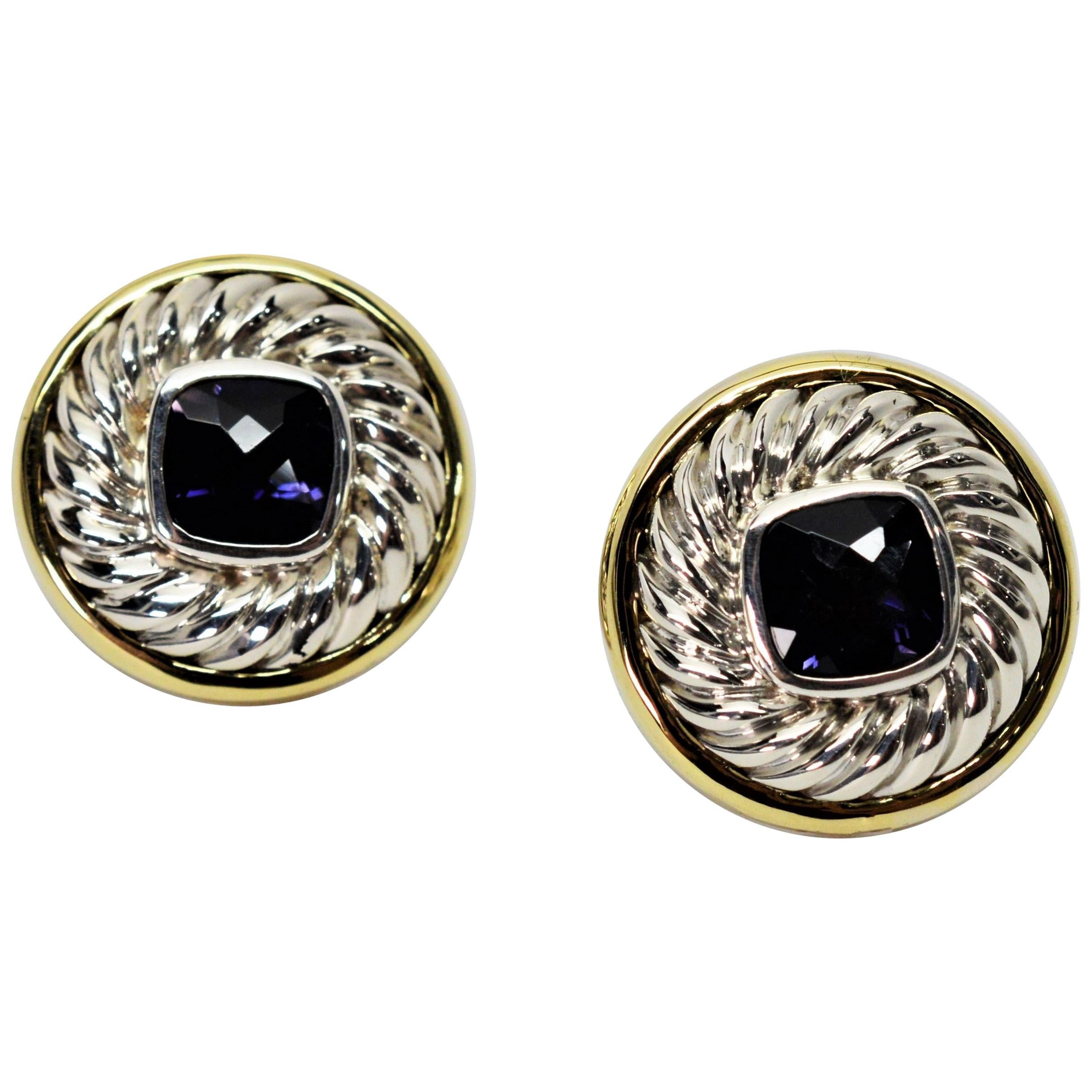 Cable Stud Earrings