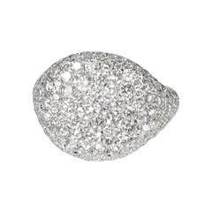 David Yurman Pave Diamond Pinky Ring in 18k White Gold 2.65 CTW