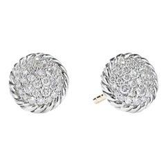 David Yurman Petite Pave Earrings with Diamonds