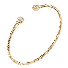 David Yurman Petite Solari Bead Bracelet with Diamonds in Gold B13649D88ADI