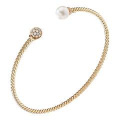 David Yurman Petite Solari Pearl Bracelet with Diamonds in Gold B13650D88DKWDI