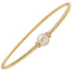 David Yurman 'Petite Solari' Station Bracelet with Cultured Pearl and Diamonds