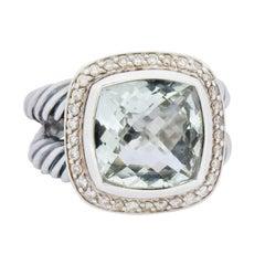 David Yurman Prasiolite Diamond Sterling Silver Albion Ring