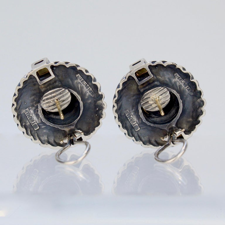 David Yurman Renaissance 14 Karat Gold and Sterling Silver Earrings For Sale 3