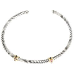 David Yurman Renaissance Cable Choker Necklace in Sterling Silver