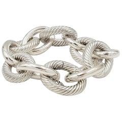 David Yurman Silver Extra-Large Oval Link Bracelet