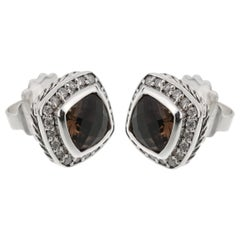 David Yurman Smoky Quartz Diamond Earrings