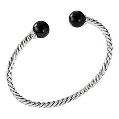 David Yurman Solari Silver Bracelet with Diamonds & Black Onyx B13634DSSDBODI
