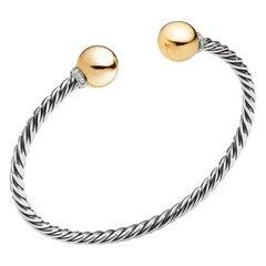 David Yurman Solari Sterling Silver Bracelet with Diamonds & Gold B13634DS8DGGDI