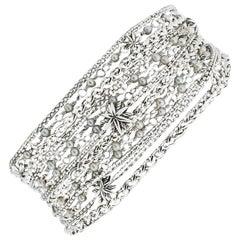 David Yurman Starburst Sterling Silver Chain Bracelets