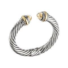 David Yurman Sterling Silver & Bonded Yellow Gold Bracelet B14183 S4BGG