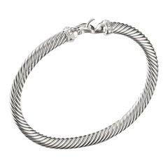 David Yurman Sterling Silver Buckle Bracelet with Diamonds B09308DSSADI