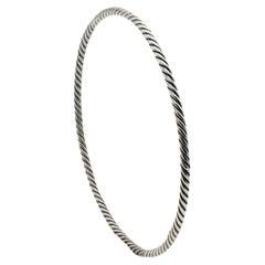 David Yurman Sterling Silver Cable Bangle Bracelet