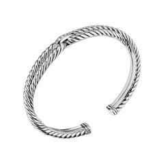 David Yurman Sterling Silver Cable Loop Bracelet with Diamonds B14038DSSADI