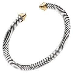 David Yurman Sterling Silver & Gold Ladies Bracelet B03950 S4