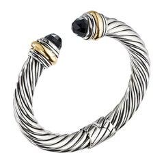 David Yurman Sterling Silver & Gold with Black Onyx Bracelet B14183 S4ABO