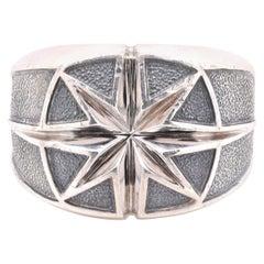 David Yurman Sterling Silver Maritime North Star Ring