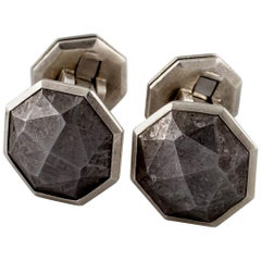 David Yurman Sterling Silver Meteorite Cufflinks