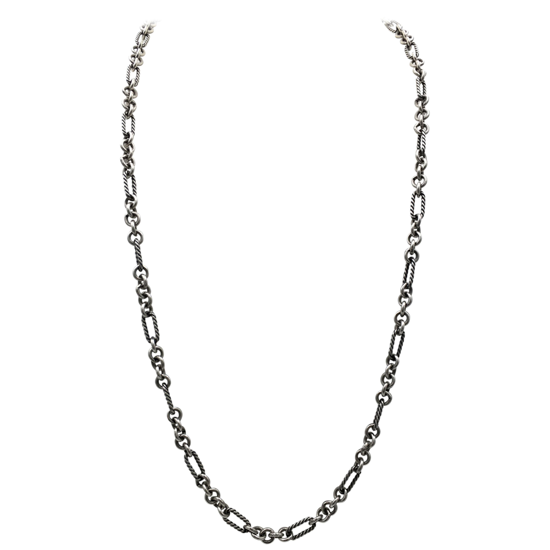 David Yurman Sterling Silver Petite Figaro Necklace