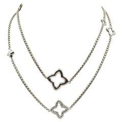 David Yurman Sterling Silver Quatrefoil Long Necklace