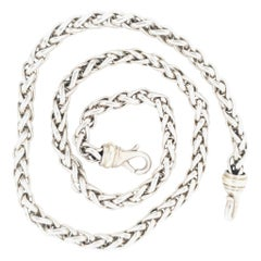 David Yurman Diamond Gold Wheat Necklace At 1stdibs