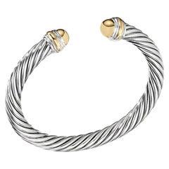 David Yurman Sterling Silver with Gold Bracelet B04425 S4GG