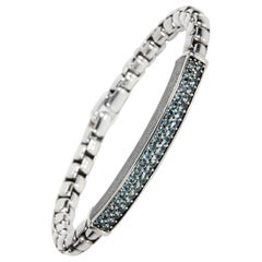 David Yurman Streamline Sapphire Bracelet in Sterling Silver