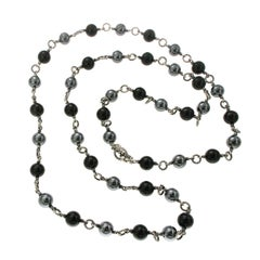 David Yurman Tahitian Pearl and Black Onyx Bijoux Necklace