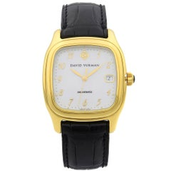 David Yurman Thoroughbred 18 Karat Yellow Gold White Dial Men's Watch T301-L88