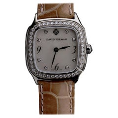 David Yurman Thoroughbred Sterling Silver Diamond Watch With 2 Straps
