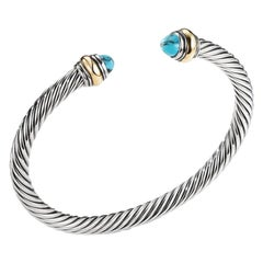 David Yurman Turquoise Bracelet in Sterling Silver & Gold B12381 S4BTX