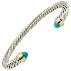 David Yurman Turquoise Cable Cuff