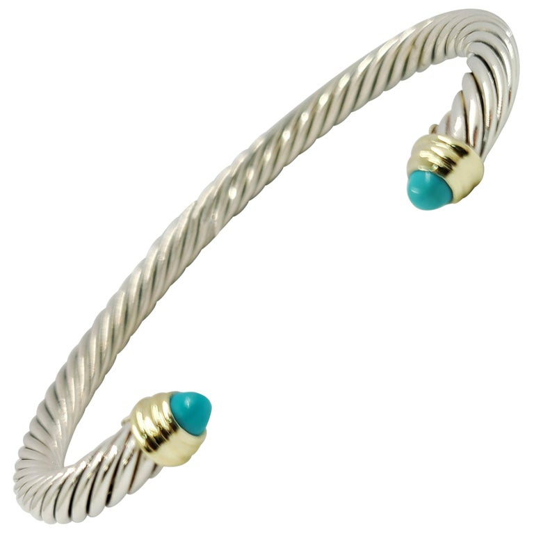 David Yurman Turquoise Cable Cuff