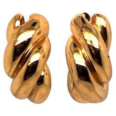 David Yurman Twisty Gold Hoops