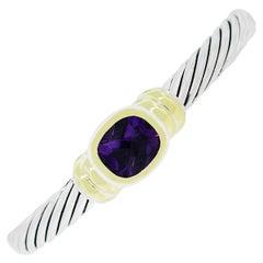 David Yurman Two-Tone Amethyst Gemstone Bracelet