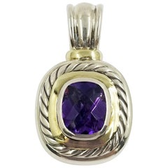 David Yurman Two-Tone Amethyst Quartz Enhancer Pendant