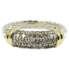 David Yurman Two-Tone Diamond Band Ring