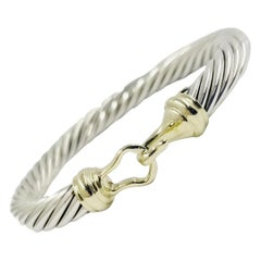 David Yurman Two-Tone Hook Bangle