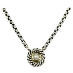 David Yurman Two-Tone Pearl Necklace