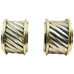 David Yurman Two-Tone Thoroughbred Stud Earrings