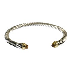 David Yurman Two-Tone Waverly Citrine Cable Cuff