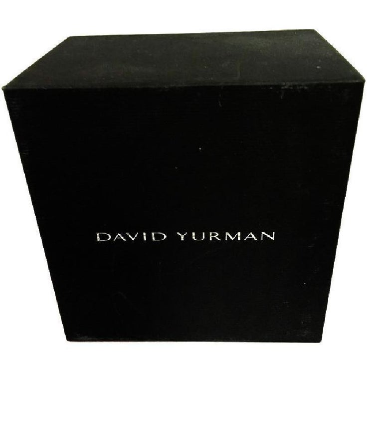 David Yurman Vintage Crossover X Ring with Diamonds In Excellent Condition For Sale In New York, NY