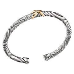 David Yurman X Bracelet with Gold Ladies Bracelet B04914 S4 M