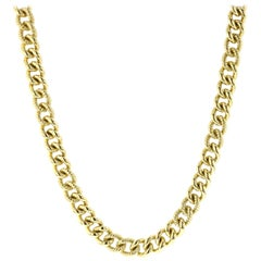 David Yurman Yellow Gold Link Necklace