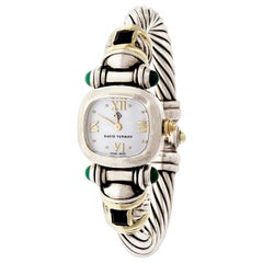David Yurman Yellow Gold Silver Cable Quartz Wristwatch
