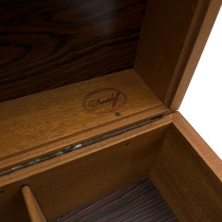 Brown Davidoff Rose Wood Humidor For Sale