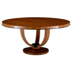 Davidson's, Circular Chatfield Dining Table, in Brown Macassar Ebony