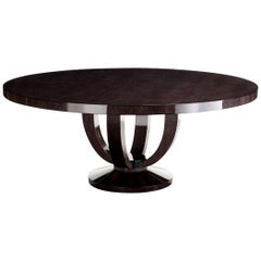 "Davidson's Circular ""Cranston"" Dining Table in Sycamore Black Wood"