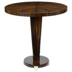 "Davidson's Circular ""Stanford"" Occasional Table, in Macassar Ebony"