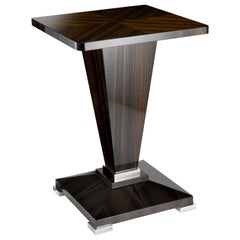Davidson's Art-Deco, Winnington Occasional Table in Macassar Ebony and Nickel